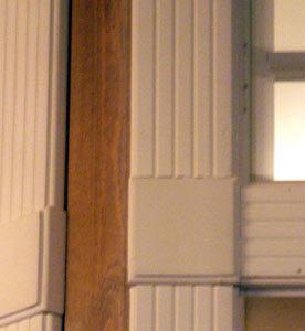 Unike lister som vakker dekor rundt vindu fra Viken Sag Hafjell