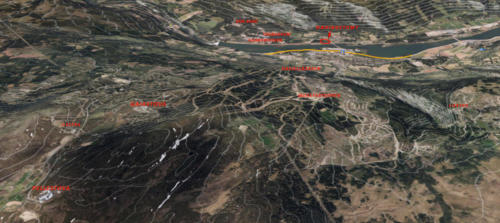 3D bilde m/oversikt over Øyerfjellet til Hafjell stasjon