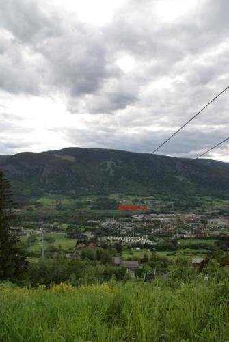 Utsikt fra veien til Mosetertoppen. 15 mål!
